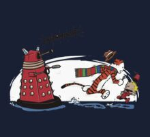 Calvin And Hobbes Dr who One Piece - Short Sleeve