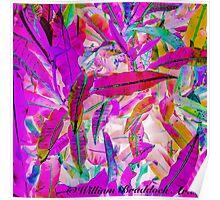 Purple Leaves - Hawaii Plant Series Poster