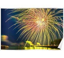 Fireworks from Port Washington Wisconsin Poster