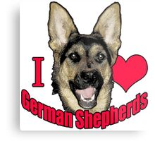 I Hart German Shepherds Metal Print