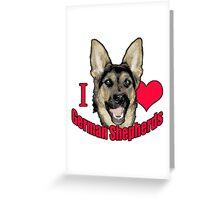 I Hart German Shepherds Greeting Card