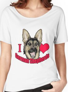 I Hart German Shepherds Women's Relaxed Fit T-Shirt