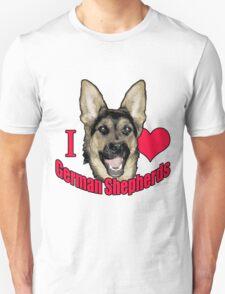 I Hart German Shepherds Unisex T-Shirt