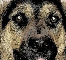 I Hart German Shepherds Sticker