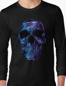Polygon Skull - Blue / Purple Long Sleeve T-Shirt