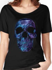 Polygon Skull - Blue / Purple Women's Relaxed Fit T-Shirt
