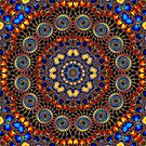 Spiralled Down Fractal K by Hugh Fathers