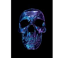 Polygon Skull - Blue / Purple Photographic Print