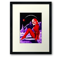 Space Babe Framed Print