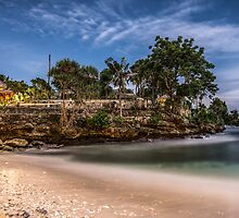 Moonlit Beach beneath the Super Moon by JohnKarmouche