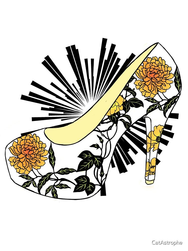 Fancy Chrysanthemum High Heel Shoe by CatAstrophe