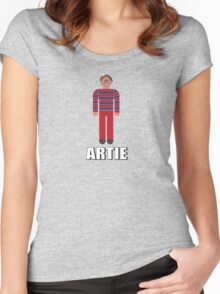 It's Artie… the strongest man…. in the world. Women's Fitted Scoop T-Shirt