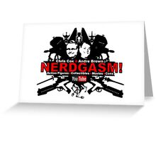 Nerdgasm Central Logo Greeting Card