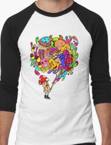 Mushroom Jizz Men's Baseball ¾ T-Shirt
