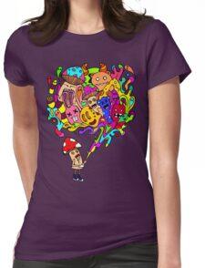 Mushroom Jizz Womens Fitted T-Shirt
