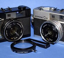 Konica C35 Silver and Black by wayneyoungphoto