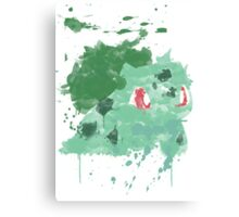 Graffiti Bulbasaur Canvas Print