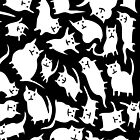 Black and White Crazy Cats  by Scruffworld