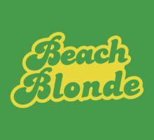 Beach blonde in yellow T-Shirt