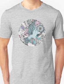 Flight of Fancy – pink, teal, cream T-Shirt