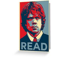 Tyrion Reads Greeting Card
