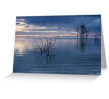 Blue Lake Menindee Greeting Card