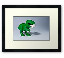 Beware of dinosaurs Framed Print