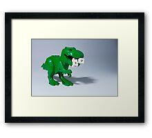 Beware of dinosaurs Framed Print