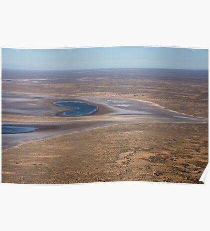 Lake Eyre, the heart of Australia Poster