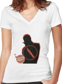 RED Spy - Team Fortress 2 Women's Fitted V-Neck T-Shirt