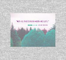 """Dreamland Forest"" - Woodland Purple Teal Woods Dreamy Dream Evergreen Trees Into the Wild Unisex T-Shirt"