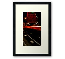 A story in lights Framed Print