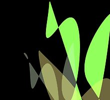 Green & Black Graphic iPhone/iPod & iPad by GJPart