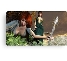 Inquisitive Elven Girls Canvas Print