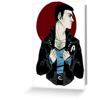 Punk!Spock Clear Greeting Card
