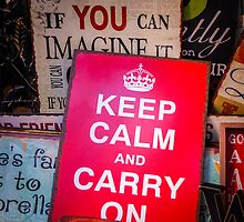 If you can imagine it, keep calm and carry on by Cedric Canard