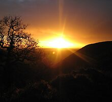 Sunset, Hole Of Horcum by Anna  West