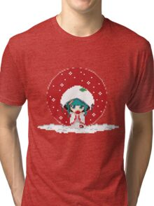Snow Miku - Strawberry Kimono Tri-blend T-Shirt