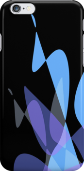 Blue & Black Graphic iPhone/iPod & iPad by GJPart