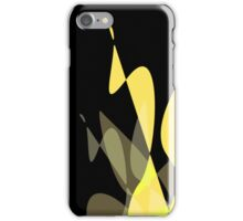 Yellow & Black Graphic iPhone/iPod & iPad iPhone Case/Skin