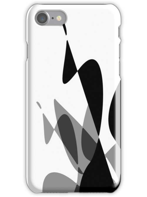 (Inverted) Black & White Graphic iPhone/iPod & iPad by GJPart