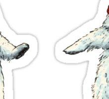 The polar bears wish you a Merry Christmas Sticker