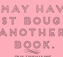Book Buying Sticker