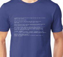 T-shirt Screen Of Death Unisex T-Shirt