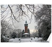 Carillon Tower in The Snow Poster
