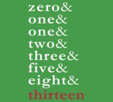 Fibonacci - Numbers Tee Kids Clothes