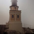 Foggy Day Lighthouse by Jing3011