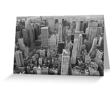 To the north, Empire State Building, NYC Greeting Card