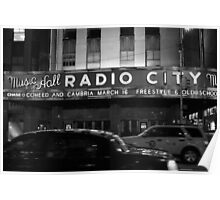 Late-night Radio City Music Hall, NYC Poster