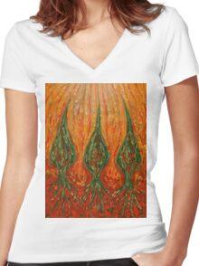 Hot Feelings Women's Fitted V-Neck T-Shirt